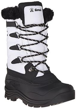 Kamik Women's Shellback Insulated Winter Boot, White, 6 M US