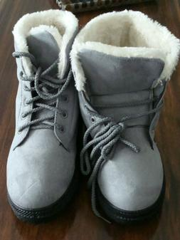 shibever winter boots women platform cotton warm