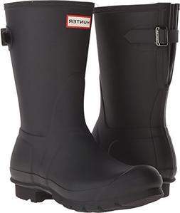 Hunter Women's Original Short Back Adjustable Rain Boots Bla