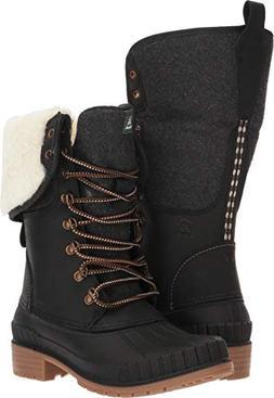 Kamik Women's SiennaF2 Waterproof Winter Boot Black 10 M US