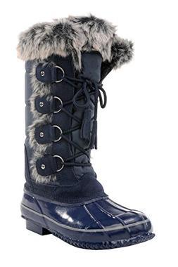 Sporto Women's Sleigh Ride Snow Boot  US, Navy)