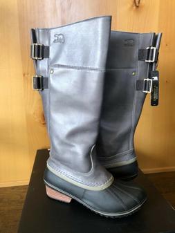 SOREL SLIMPACK TALL 9.5 EQUESTRIAN Riding Rain Boots Women N
