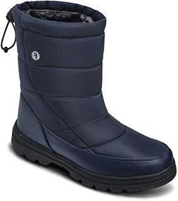 soouops Outdoor Casual Slip on Mid Calf Snow Boots for Men N