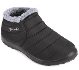 Gracosy Snow Black Gray 40 Size 9 Medium Winter Warm Ankle F