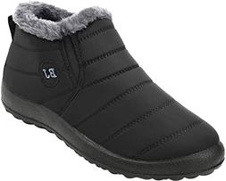 JOINFREE Womens Waterproof Winter Shoes Fur Lining Snow Boot