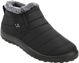 FEETCITY Women's Outdoor Walking Snow Boots Waterproof Fur L