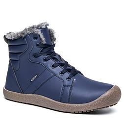 Snow Boots Lace Up Fashion Mens Warm Winter Shoes Fully Fur