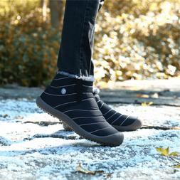 SAGUARO Snow Boots Warm Fur-lined Shoes Ankle Boots Waterpro