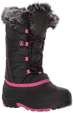 Kamik Snowgypsy Snow Boot, Black/Magenta/Bmm, 1 Medium US Li