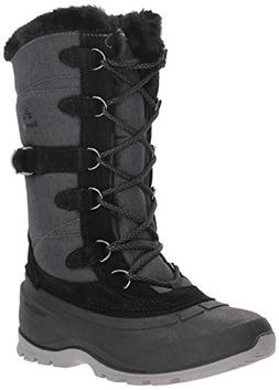 Kamik Women's Snowvalley 2 Snow Boot, Black, 8.5 B US