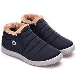 Dear Time Women Men Super Warm Snow Boots Ankle Bootie Water