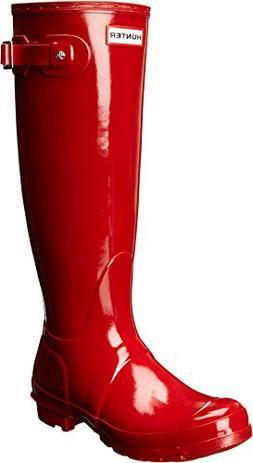 Hunter Women's Original Tall Gloss Snow Boot, Military Red,