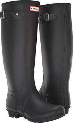 Hunter Women's Original Tall Rain Boots Black 8 US