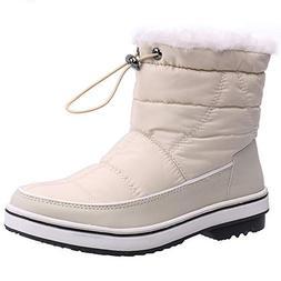 ALEADER Women's Terra Waterproof Winter Ankle Snow Boots Bei