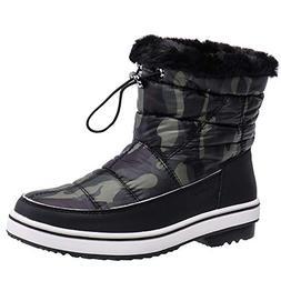 ALEADER Women's Terra Waterproof Winter Ankle Snow Boots Cam