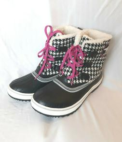 Sorel Tivoli Women's Winter Snow Boots Size 9 Black/White Ho