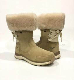 UGG INGALLS WATERPROOF SNOW BOOTS SAND SUEDE / FUR COLLAR -U