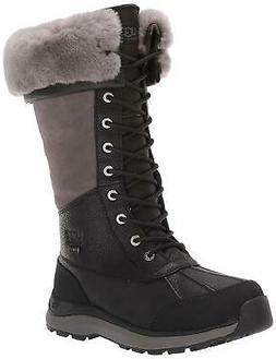 UGG Women's W Adirondack Tall III Snow Boot, Black, Size 11.