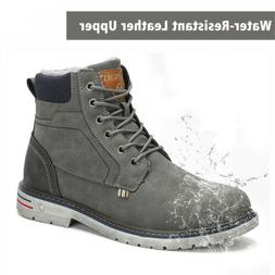 SAGUARO Unisex Snow Boots Anti-slip Warm Fur-Lined Lace Up S