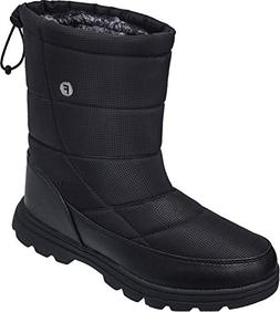 JOINFREE Unisex Warm Mid Calf Boots Work Boots Waterproof fo