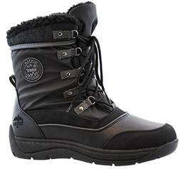 Totes Womens Vail Snow Boot, Black, 10M