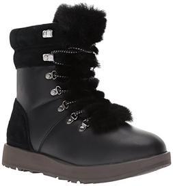 UGG Women's Viki Waterproof Fashion Sneaker, Black, 8.5 B US