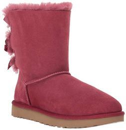 UGG Women's W Bailey Bow II Fashion Boot, Garnet, 9 M US