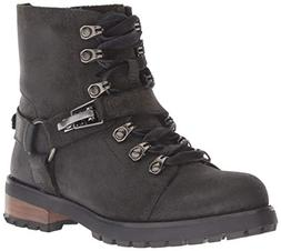 UGG Women's W Fritzi LACE-UP Boot Fashion, Black, 9 M US
