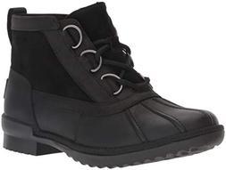 UGG Women's W Heather Boot Fashion, Black, 6.5 M US