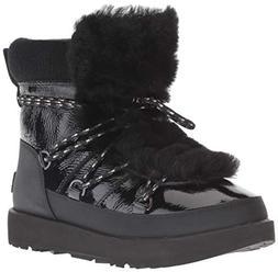 UGG Women's W Highland Waterproof Fashion Boot, Black, 11 M