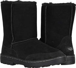 UGG Women's W Ultra Short Revival Fashion Boot, Black, 9 M U