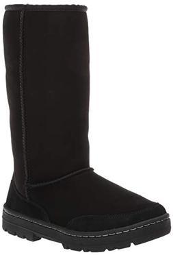 UGG Women's W Ultra Tall Revival Fashion Boot, Black, 9 M US