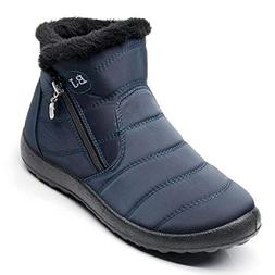 Dear Time Warm Snow Boots for Women Waterproof Winter Fur Li