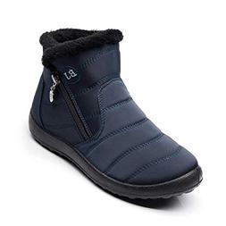 HAVINA Womens Warm Snow Boots Outdoor Fur Lining Winter Shoe