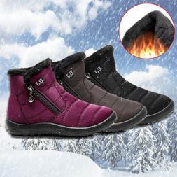 Warm Snow Boots Women's Winter Ankle Bootie Fur Lined Waterp