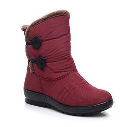 Dear Time Waterproof Snow Boot for Women Winter Faux Fur Ant