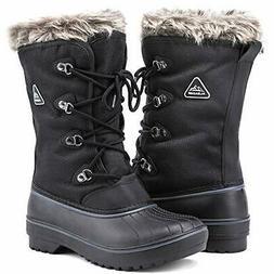 ALEADER Waterproof Snow Boots for Women, Warm Faux Fur Winte