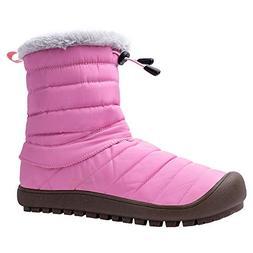 ALEADER Women's Waterproof Winter Ankle Snow Boots Pink 6 B