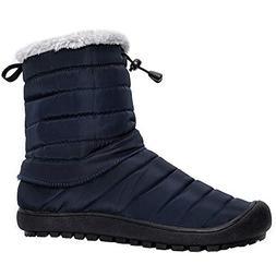ALEADER Women's Waterproof Winter Ankle Snow Boots Navy 9 B