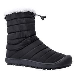 ALEADER Women's Waterproof Winter Ankle Snow Boots Black 8-8