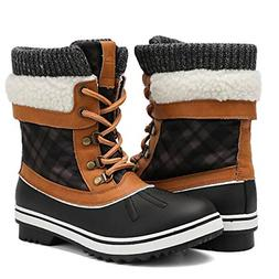ALEADER Waterproof Winter Boots for Women, Warm Snow Booties