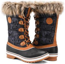 ALEADER Waterproof Womens Winter Boots, Warm Snow Booties An