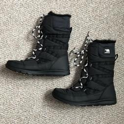 Sorel Whitney Tall Lace II Snow Boots, Black