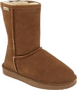 BEARPAW Women's Wide Calf Emma Short Boot  US, Hickory)