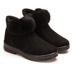 Dear Time Women Winter Ankle Boots Fur Warm Anti-Slip Snow B