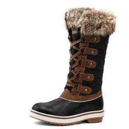 ALEADER Winter Boots for Women, Fashion Waterproof Snow Fur