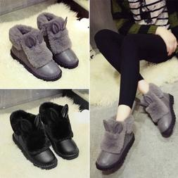 Winter Flat Platform Shoes Thickening Keep Warm Woman Snow B