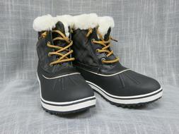 Globalwin Winter Fur Lined Snow Boots Black Women's Size 7