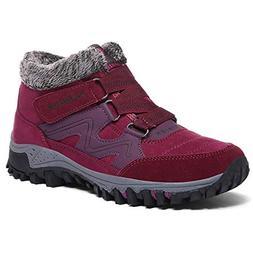 Womens Winter Shoes Fur Lined Warm Lightweight Waterproof Bo