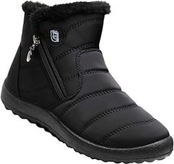 JOINFREE Womens Winter Snow Ankle Boots Fur Lining Outdoor S